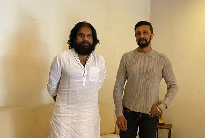 kichcha sudeep meets pawan kalyan